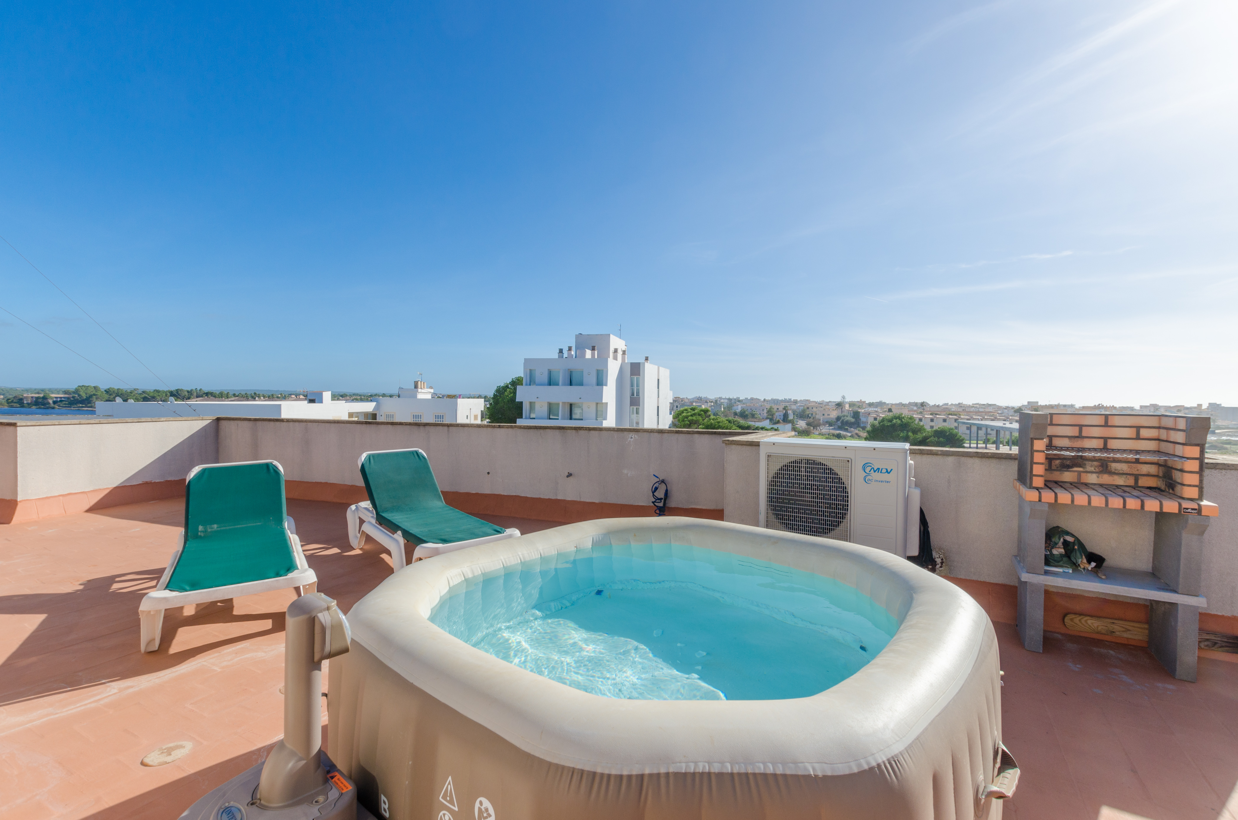 YourHouse Tio Max beach apartments with terrace, jacuzzi and bbq in Ses Salines, for 4 people